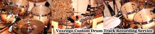 Custom Drum Track Recording Service